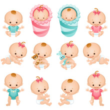 Newborn Baby Icon Set