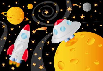 svemirski brodovi u svemiru