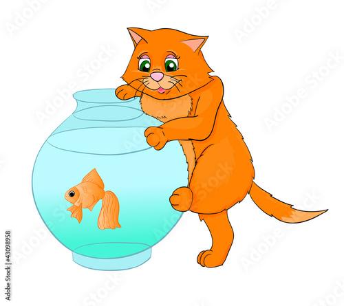 Poster de jardin Chambre bébé kat cartoon