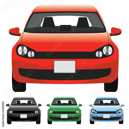 Staande foto Cartoon cars Vector Car