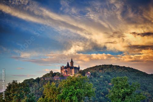 Fotografie, Obraz  Schloß Wernigerode, Sonnenuntergang