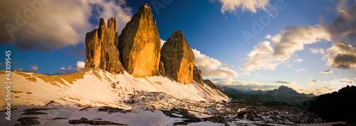 Tre Cime di Lavaredo Tramonto Dolomiti Wallpaper Mural