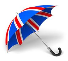 Umbrella With British Flag