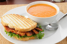Grilled BLT With Tomato Bisque