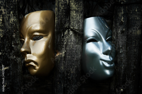 Fotografie, Tablou  Comedy and Tragedy  - Drama Theater Masks