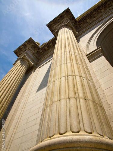 Union Station at Washington DC Showing Columns Canvas Print