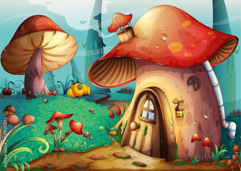 Fototapety, obrazy: mushroom house
