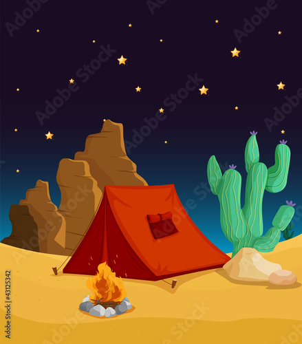 Poster Indiens tent house