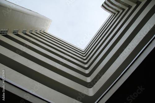 Vászonkép Geometric building