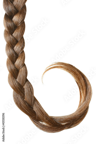 Fotografia, Obraz  Braid isolated on white.