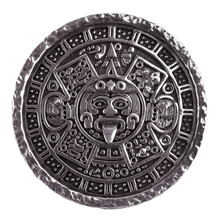 Medallion Engraved With The Mayan Calendar