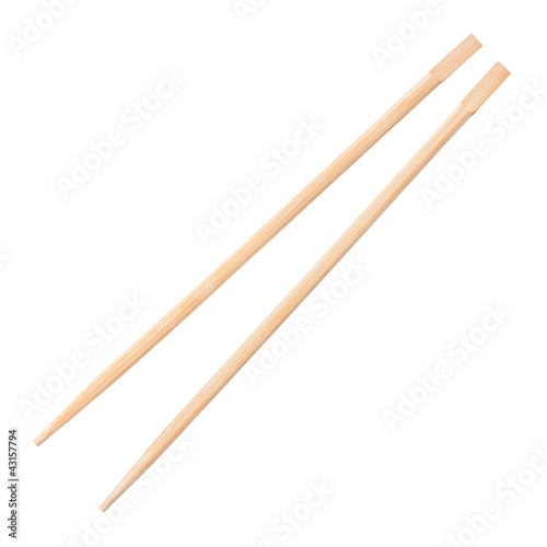 chopsticks on a white background Canvas Print