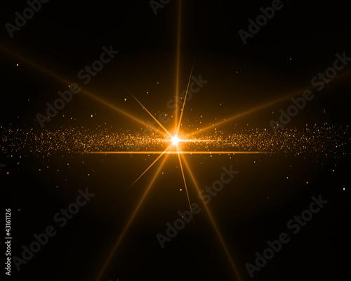 Fototapeta Background with an orange star obraz