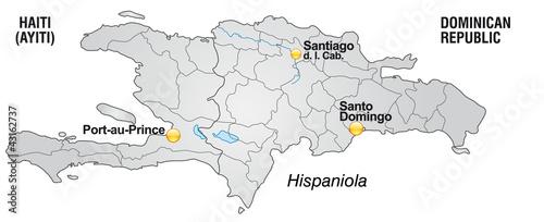 Haiti Karte.Karte Von Haiti Und Dom Rep Mit Landesgrenzen Buy This Stock