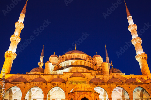 Mosque at Sunset Poster