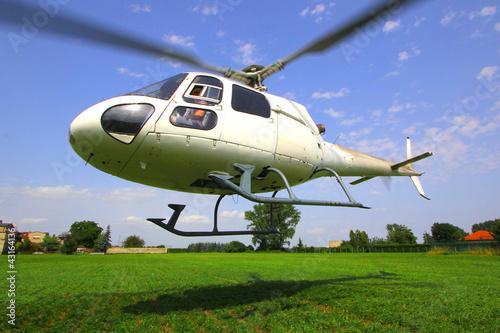 Tuinposter Helicopter Hubschrauber Start
