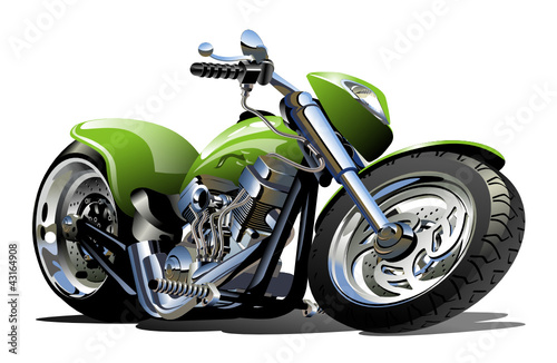 Foto op Aluminium Motorfiets Vector Cartoon Motorcycle