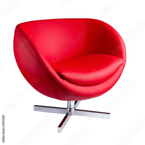 Fotografie, Obraz  Modern red chair