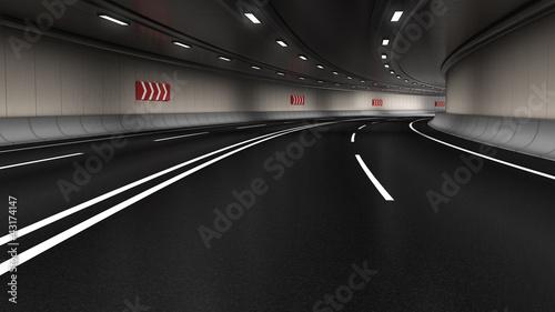 fototapeta na ścianę Traffic Tunnel