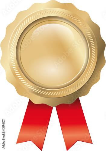 Siegel Gold mit Bändern Fototapet
