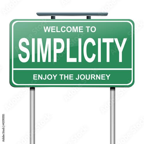 Fotografie, Obraz  Simplicity concept.