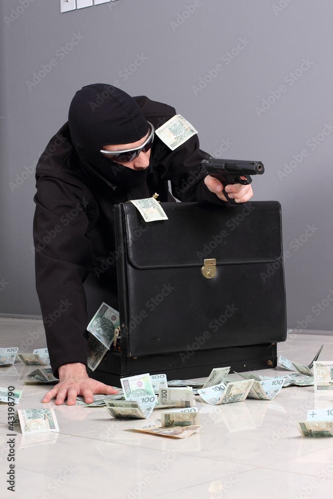 Fototapeta Theft of money