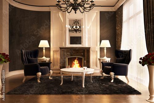 Fotografie, Tablou  Fireplace