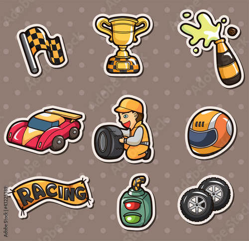 Tuinposter F1 f1 racing stickers