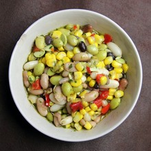 Three Bean Mixed Salad With Corn