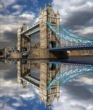 Famous Tower Bridge in London, England - 43226727