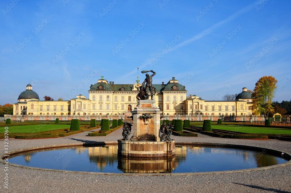 Photo  Drottningholms  palace Stockholm, Sweden