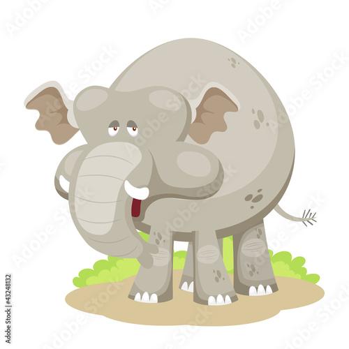 Poster de jardin Zoo Elephant vector