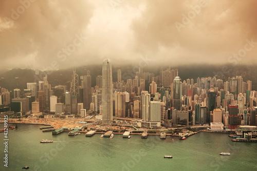 Photo  Hong Kong aerial view