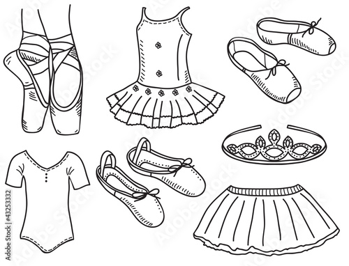 set of ballerina accessories buy this stock vector and explore