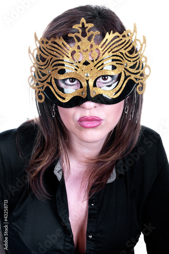 Photo  sexy woman with mask on face