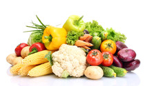 Fresh Vegetables Isolated On W...