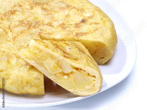 Fotografía  Spanish omelet  portion.