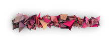 Pink 3d Abstract Modern Sculpture On White