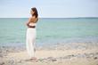 woman standing near the sea
