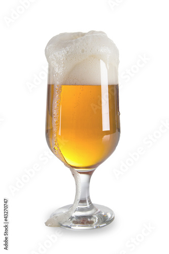 Fényképezés  Close up of beer over white
