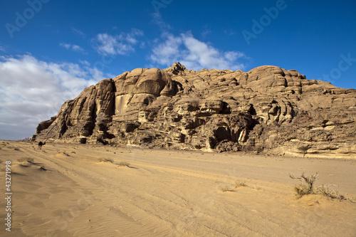 Deurstickers Midden Oosten Mountains in the Wadi Rum desert in South Jordan
