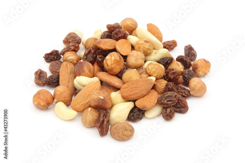 Frutta secca - Assortment of nuts and dried fruits Canvas Print