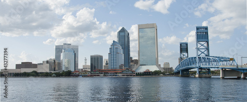 Stampa su Tela Jacksonville Florida Downtown waterfront