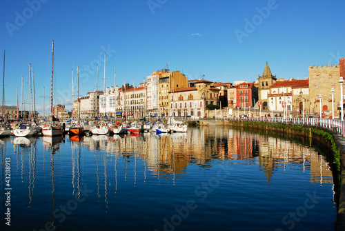 Photo Marina of Gijon, Asturias (Spain)