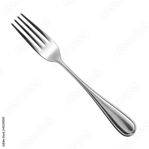 fork on white background Fototapeta