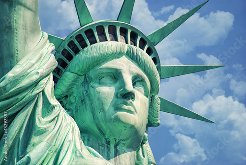 Cuadros en Lienzo Statue Of Liberty-Manhattan-Liberty Island-NY