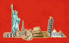 Editable Vector Illustration Of A Historical Monument