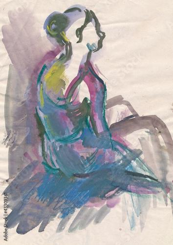 Obrazy Edgar Degas  ballerina-water-colors-technique