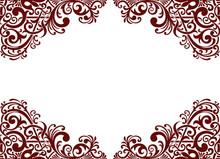 Vector Vintage Pattern Border Frame Card Background