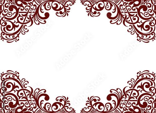 Fotografía  Vector vintage pattern border frame card background